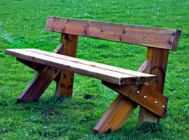 Bancos y mesas de madera - Bancos de madera rusticos ...